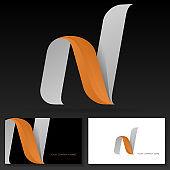 Letter N sign design – Modern dynamic vector sign.