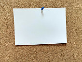cork board with blank notes copy space
