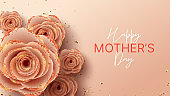 Happy Mother's Day horizontal banner template