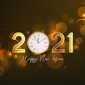2021 Happy New Year greeting card