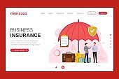 Business Insurance landing page template design