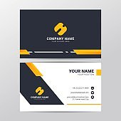 Business card design template with modern and clean style