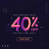 Special offer sale discount banner template for advertising campaign