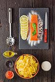 Pappardelle Salmon Pasta Italian Traditional Cuisine