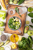 lime mint, organic healthy, green vegetable, kiwi smoothie, green tea, spinach recipe, glass jar