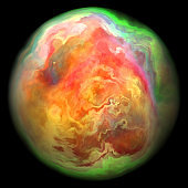 Magical planet ball with distorted