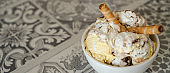 Homemade  ice cream.