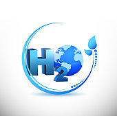 H2o illustration design