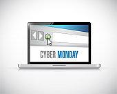 Cyber monday laptop illustration design