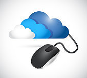 Cloud and computer mouse connection