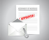 Assignment of mortgage approved concept