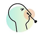 Nasal Swab - Nasopharyngeal Swab Testing - Icon