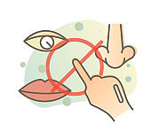 Avoid Touching Eye Nose and Mouth - Illustration