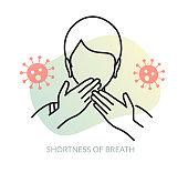 Novel Coronavirus - COVID-19 - Shortness of Breath - Icon