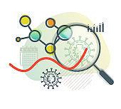 Novel Coronavirus - MERS CoV - Respiratory Syndrome Virus - Icon