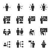 People Icons Work Group Team Vector , Online Education
