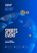 Poster template design for sport event. Sport background.