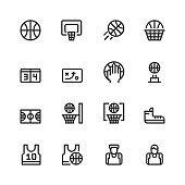 Basketball Icons set vector illustration