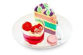 Dessert strawberry cake