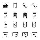 communication icons Phone Vector Illustration