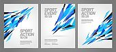 Layout poster template design for sport event.