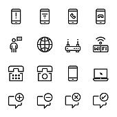 Communication Icons Phone Vector Illustration