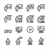 Business Training Icons Vector illustration