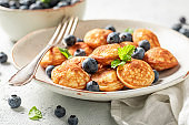 Delicious poffertjes as simple and sweet snack