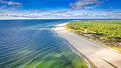 Stunning beach on peninsula Hel, Baltic Sea in Poland
