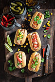 Delicious mini hot dogs as a quick appetizers