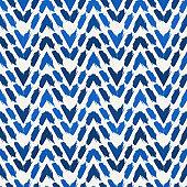 Ethnic seamless pattern. Freehand horizontal zigzag chevron stripes print. Boho chic, indigenous, tribal background