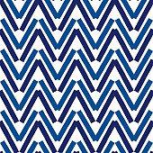 Brush strokes seamless pattern. Freehand horizontal zigzag stripes. Repeated chevron lines background. Grunge geometric