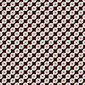 Outline seamless pattern with diagonal lines and circles. Strings of beads motif. Minimalist geometric background.