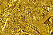 Precious metal flow image. Marble abstract background digital illustration. Liquid gold surface artwork