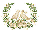 Pair of pigeons and roses.jpg