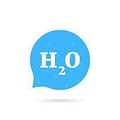 speech bubble like h2o water
