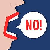 woman says no word like negation