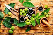 Unripe walnut medicine tincture