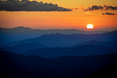 Stunning Sunset in the Smoky Mountains of Tennessee and North Carolina