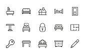 Icon set of house