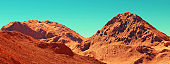 Mars landscape 3d render