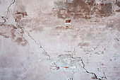 Old plastered brick wall, aged and weathered, abstract texture background