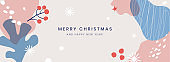 Christmas horizontal banner. Winter abstract pattern.