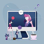 Online customer service concept