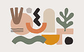 Collection of fashionable abstract graphic shapes.