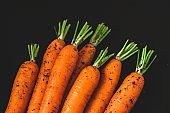 Homegrown carrots.
