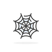 Cobweb icon in filled outline style.