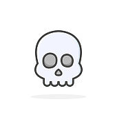 Skull icon in filled outline style.