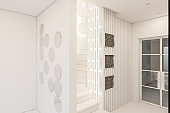 3d render interior design of a foyer in a private country house