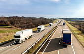 Highway transportation with a fleet of Lorry trucks